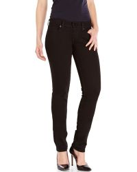 Levi's Black 524 Low Rise Skinny Jeans - Lyst