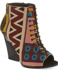 Burberry Red Virginia Wedges - Lyst