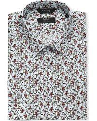 Paul Smith Mushroom-print Single-cuff Stretch-cotton Shirt - Lyst