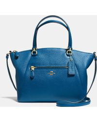 Coach Prairie Satchel In Pebble Leather - Lyst