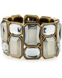 R.j. Graziano - Wide Crystal Stretch Bracelet - Lyst