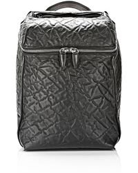 Alexander Wang Inside Out Backpack in Black Embossed with Rhodium - Lyst