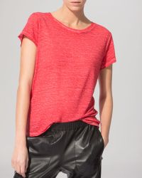 Maje Tee - Washed Linen - Lyst