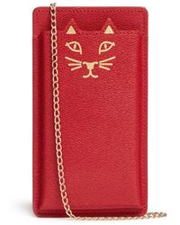 Charlotte Olympia 'Feline' Leather Iphone 6 Case red - Lyst