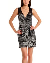 Twelfth Street Cynthia Vincent 12Th St By Cynthia Vincent Mesh Top Dress gray - Lyst