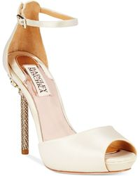 Badgley Mischka Meredith Platform Evening Pumps - Lyst