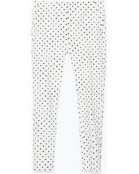 Zara Polka Dot Slim Trousers - Lyst