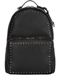 Valentino Black Rockstud Backpack - Lyst