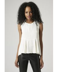 Topshop Seamed Shell Top - Lyst