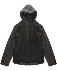 Y-3 Leather Parka - Lyst
