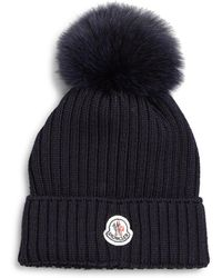 Moncler Toddlers  Little Girls Fur-trimmed Wool Hat - Lyst