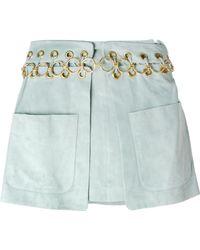 Chloé Eyelet Detail Skirt blue - Lyst