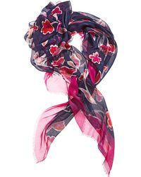 Oscar de la Renta Floral-Print Oblong Scarf - Lyst