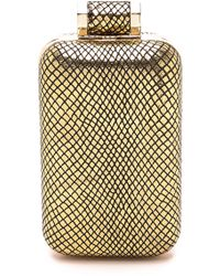 Halston Heritage North / South Cell Phone Minaudiere - Gold - Lyst