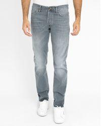 Carhartt Faded Light-grey Klondike Ii Slim-fit Jeans gray - Lyst