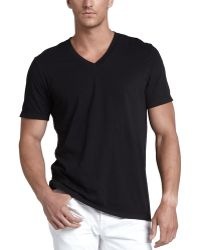 James Perse V-neck Jersey Tee - Lyst