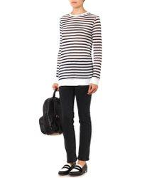 T By Alexander Wang Striped Jersey T-shirt - Lyst