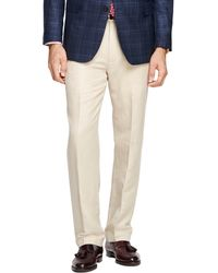Brooks Brothers Clark Fit Linen and Cotton Pants - Lyst