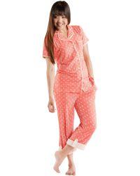Munki Munki Teeny Seahorse Knit Classic Pajama Set - Lyst
