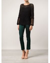 Yigal Azrouel Pointelle Knit Top - Lyst