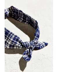 Urban Renewal - Recycled Flannel Knot Headband - Lyst