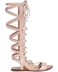 3d13009ab47d Sigerson Morrison -  bright  Knee High Leather Gladiator Sandals - Lyst
