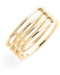 Bony Levy Women'S 'Prism' 4-Row Ring - Yellow Gold (Nordstrom Exclusive) - Lyst