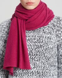 C By Bloomingdale's Angelina Solid Cashmere Scarf - Lyst