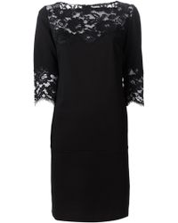 Ermanno Scervino Black Shift Dress - Lyst