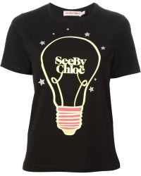 See By Chloé Graphic Tshirt - Lyst