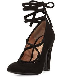 Vince Camuto Signature Graydin Suede Lace-Up Pump - Lyst