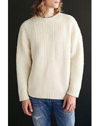 Pendleton Cable Stitch Crew Neck Sweater - Lyst