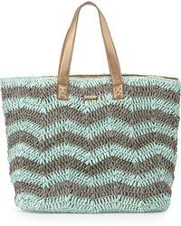 OndadeMar - Woven/metallic Beach Tote Bag - Lyst