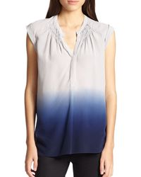 Rebecca Taylor Dip-dyed Silk Top - Lyst
