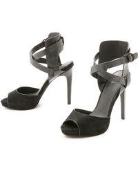Joe's Jeans - Patrik Ankle Strap Sandals - Black/Black - Lyst