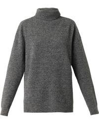Balenciaga Roll-neck Wool-blend Sweater - Lyst