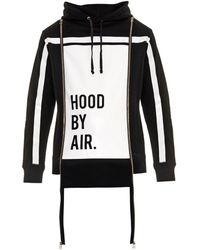 Hood By Air Horizon Striped Hooded Sweatshirt - Lyst
