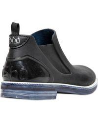 Ishu+ - Two Tone Waterproof Beatle Boots - Lyst