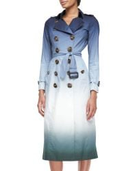 Burberry Prorsum Degrade-printed Trench Coat - Lyst