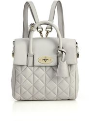 Mulberry Cara Delevingne Mini Convertible Quilted Leather Satchel - Lyst