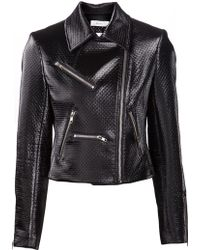 A.L.C. Textured Biker Jacket - Lyst