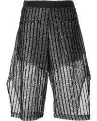 Lost & Found - Striped Knitted Shorts - Lyst