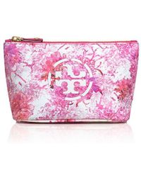Tory Burch Kerrington Trapeze Cosmetic Case - Lyst