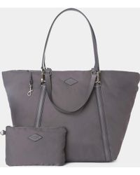 MZ Wallace Astor Tote Slate Puff Bedford gray - Lyst