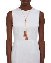 Wendy Nichol - Women's Studded Leather Bolo Tassel Necklace - Lyst