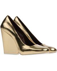 Celine Gold Pump - Lyst