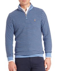 Polo Ralph Lauren | Striped Honeycomb Half-zip Pullover | Lyst