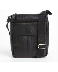 Ferragamo Nero Stamped Shoulder Bag - Lyst
