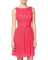 Trina Turk Lace Fitandflare Dress - Lyst