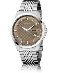Gucci G-Timeless Stainless Steel Watch - Lyst